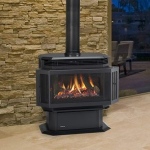 QuadraFire Hudson Bay Freestanding Gas Fireplace High Country Stoves